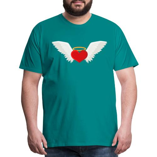 Winged heart - Angel wings - Guardian Angel - Men's Premium T-Shirt