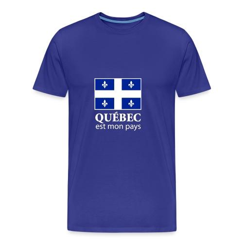 Québec est mon pays - Men's Premium T-Shirt