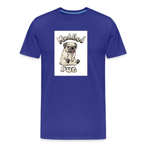 muddled-pug - Men's Premium T-Shirt