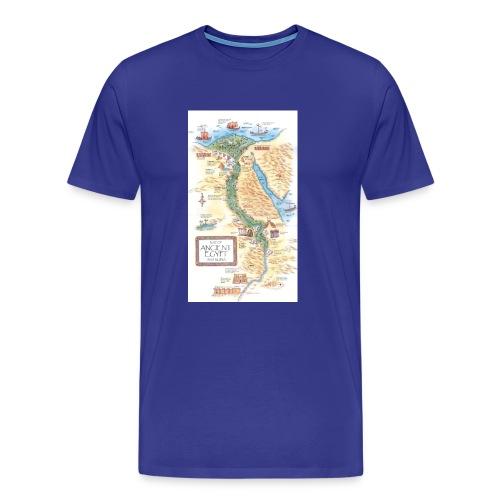 Ancient Egypt geogrpahy and landmarks map jpg - Men's Premium T-Shirt