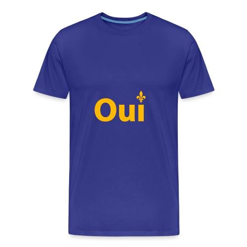 OUI Québec - T-shirt premium pour hommes
