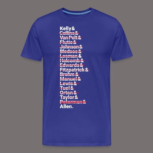 Buffalo Franchise Quarterbacks - Men's Premium T-Shirt