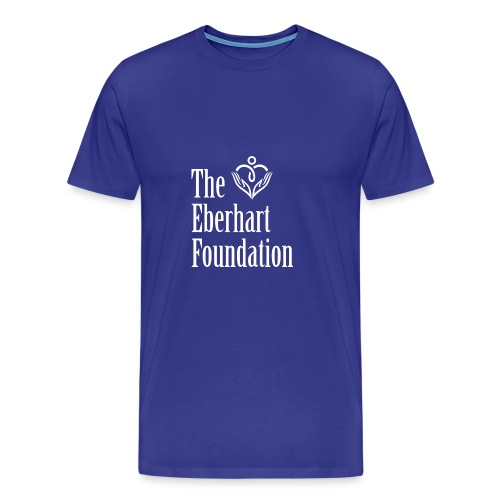 The Eberhart Foundation square logo white - Men's Premium T-Shirt