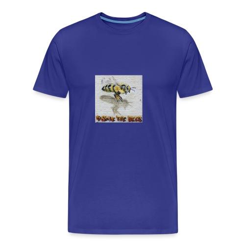 Hashtag #savethebees - Men's Premium T-Shirt