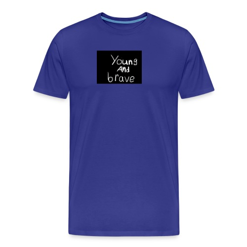 YOUNG AND BRAVE - Men's Premium T-Shirt