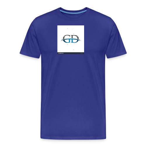 stock vector gd initial company blue swoosh logo 3 - Men's Premium T-Shirt