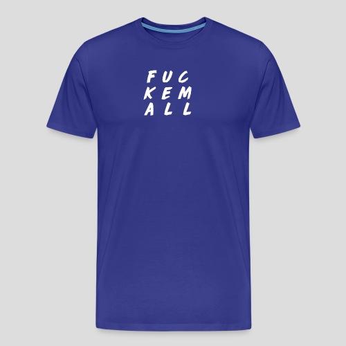 FUCKEMALL White Logo - Men's Premium T-Shirt