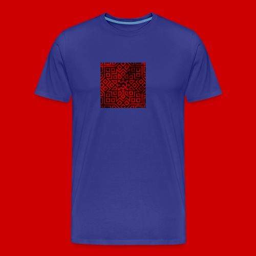 Detailed Chaos Communism Button - Men's Premium T-Shirt