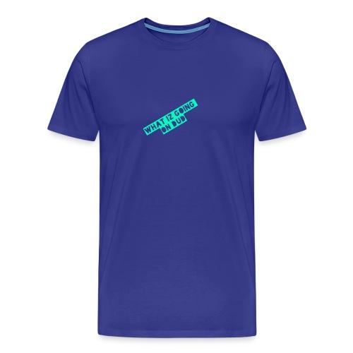 what iz going on dude - Men's Premium T-Shirt