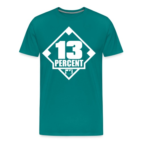 Thirteen Percent Logo - Men's Premium T-Shirt