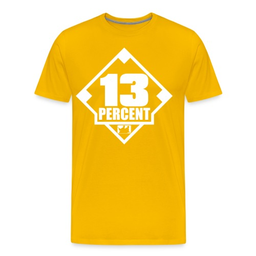 Thirteen Percent Logo - Men's Premium T-Shirt