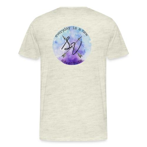 everyday is a new adventure logo - Men's Premium T-Shirt