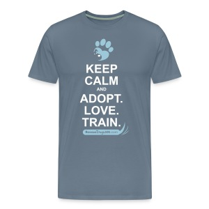 RescueDogs101 Keep Calm - Men's Premium T-Shirt