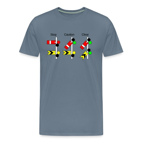 Railway Signs - Men's Premium T-Shirt