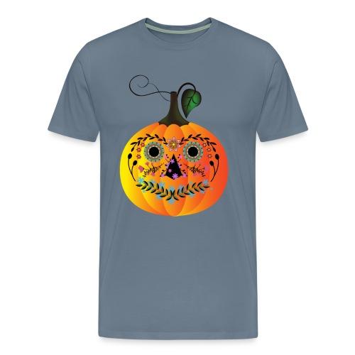 Sugar Skull Pumpkin - Men's Premium T-Shirt