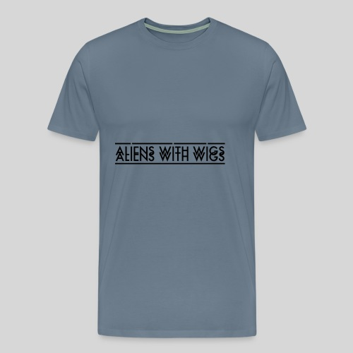 AliensWithWigs-Logo-Noir - Men's Premium T-Shirt