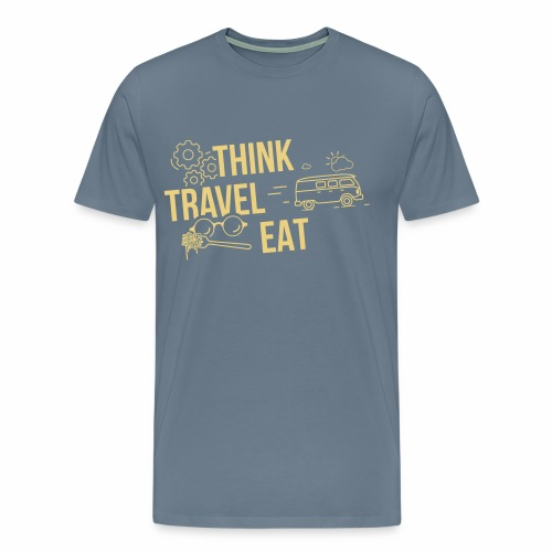 Think Travel Eat - Men's Premium T-Shirt