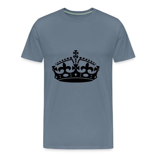 KEEP CALM CROWN - Men's Premium T-Shirt