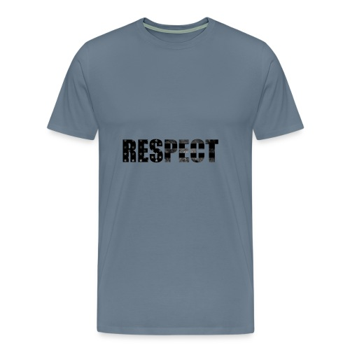Respect Black and White flag - Men's Premium T-Shirt