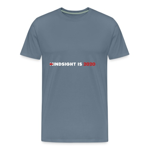 Hindsight Is 2020 - white/red type - Men's Premium T-Shirt