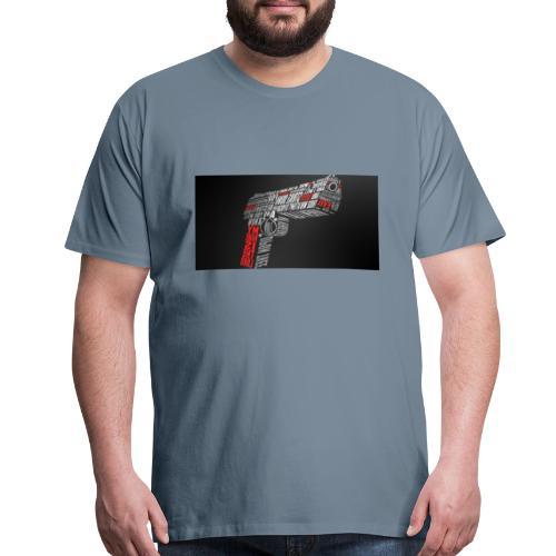 gun art 1 - Men's Premium T-Shirt