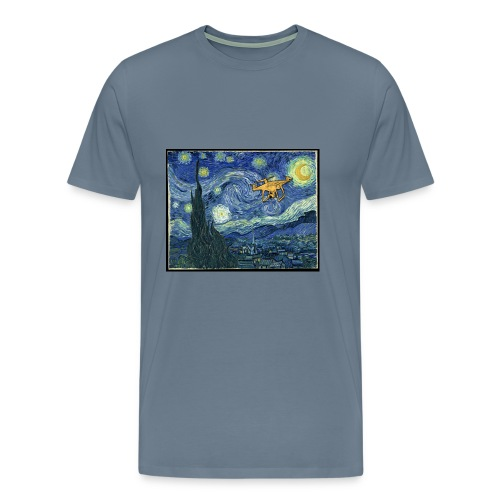 Starry Night Drone - Men's Premium T-Shirt