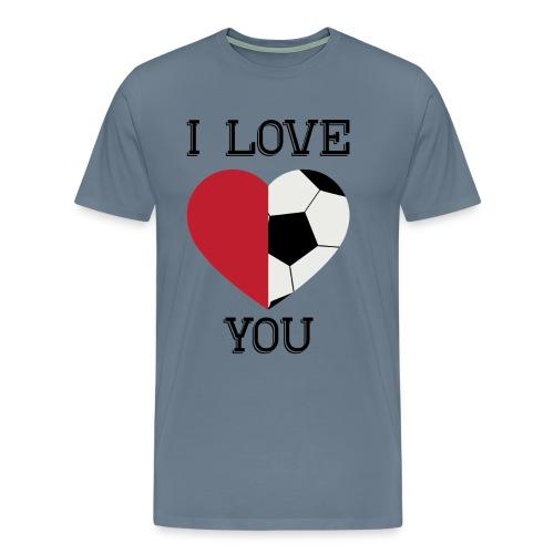 i love you soccer - Men's Premium T-Shirt