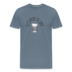 Coffee is life - Men's Premium T-Shirt