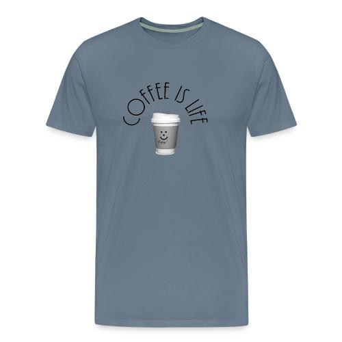 Coffee is life - Men's Premium T-Shirt