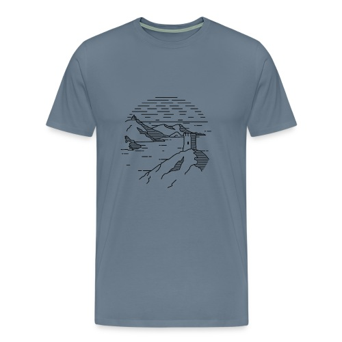 Line landscape - Sea - Men's Premium T-Shirt