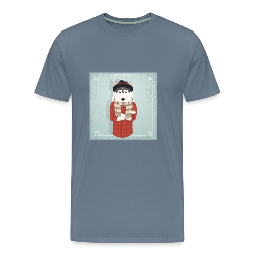 Hispter Dog - Men's Premium T-Shirt
