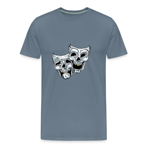 COMEDY TRAGEDY SKULLS - Men's Premium T-Shirt