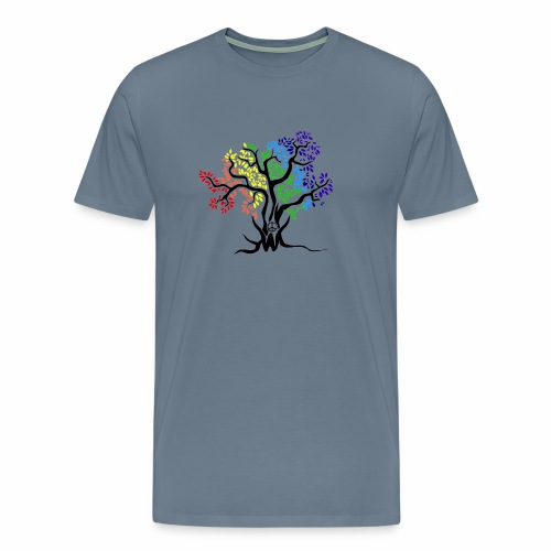 3WC Rainbow Tree - Men's Premium T-Shirt