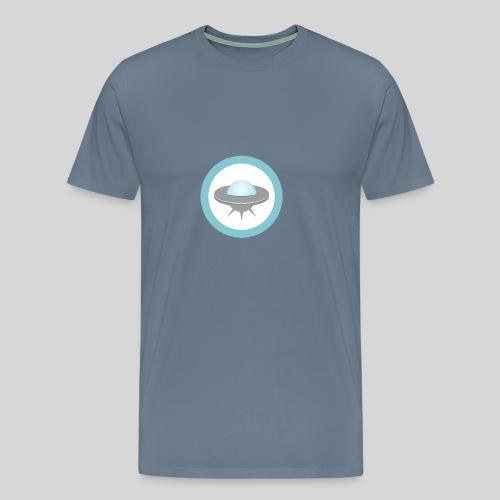 ALIENS WITH WIGS - Small UFO - Men's Premium T-Shirt