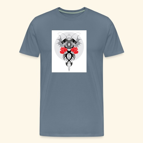 Dragons and Roses - Men's Premium T-Shirt
