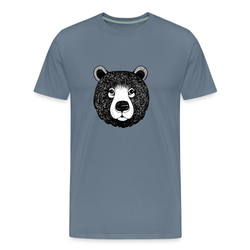 The head of bear - Men's Premium T-Shirt
