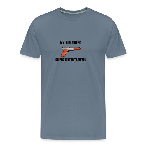 Girlfriend Snipes Better T-Shirt. Retro Gaming - Men's Premium T-Shirt