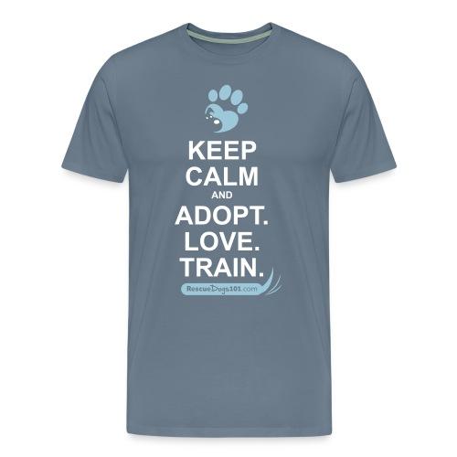 RescueDogs101 Keep Calm - Men's Premium T-Shirt