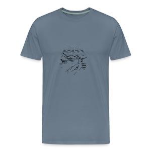 Line landscape - Sea - Men's Premium T-Shirt