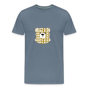 SUPLEXExBEAR GOLD TEE - Men's Premium T-Shirt