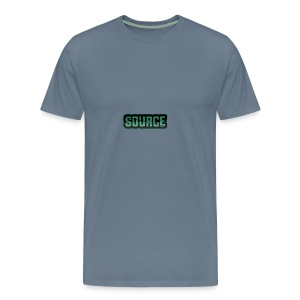 Green and Black Source Logo - Men's Premium T-Shirt