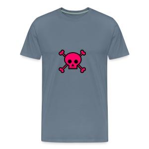 pink skull - Men's Premium T-Shirt