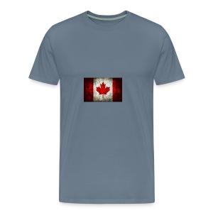 canada flag grunge - Men's Premium T-Shirt