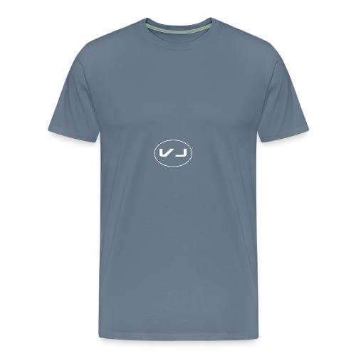 Vloggerjoe White circle lgo - Men's Premium T-Shirt