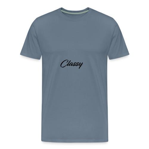 Classy 2017 Casual Wear - Gray - Men's Premium T-Shirt