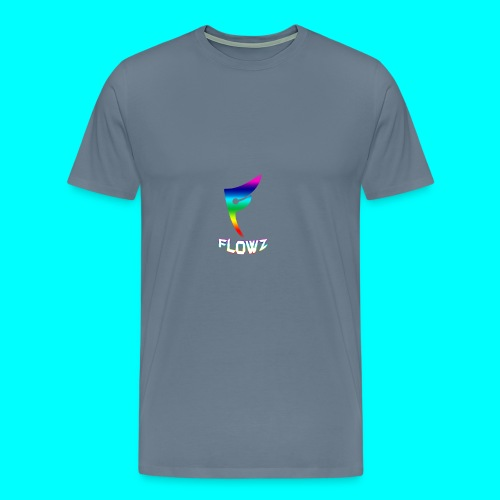 Multi-Colour Flowz Logo With Text - Men's Premium T-Shirt