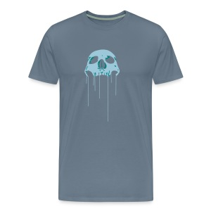 Skull blue bloody - Men's Premium T-Shirt