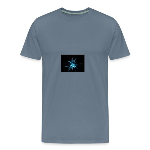 Neon blue design - Men's Premium T-Shirt