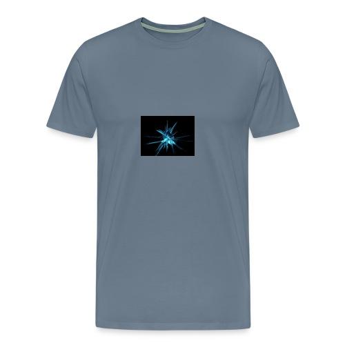 Neon blue design - Men's Premium T-Shirt