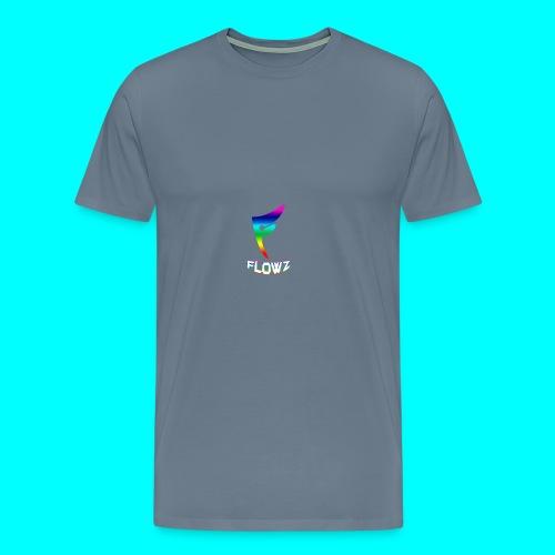 Multi-Colour Flowz Logo With Text - Men's Premium T-Shirt